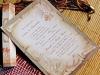 invitatie nunta pergament